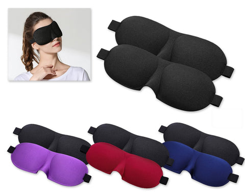 2 Pieces 3D Sleeping Eye Masks with Elastic Strap