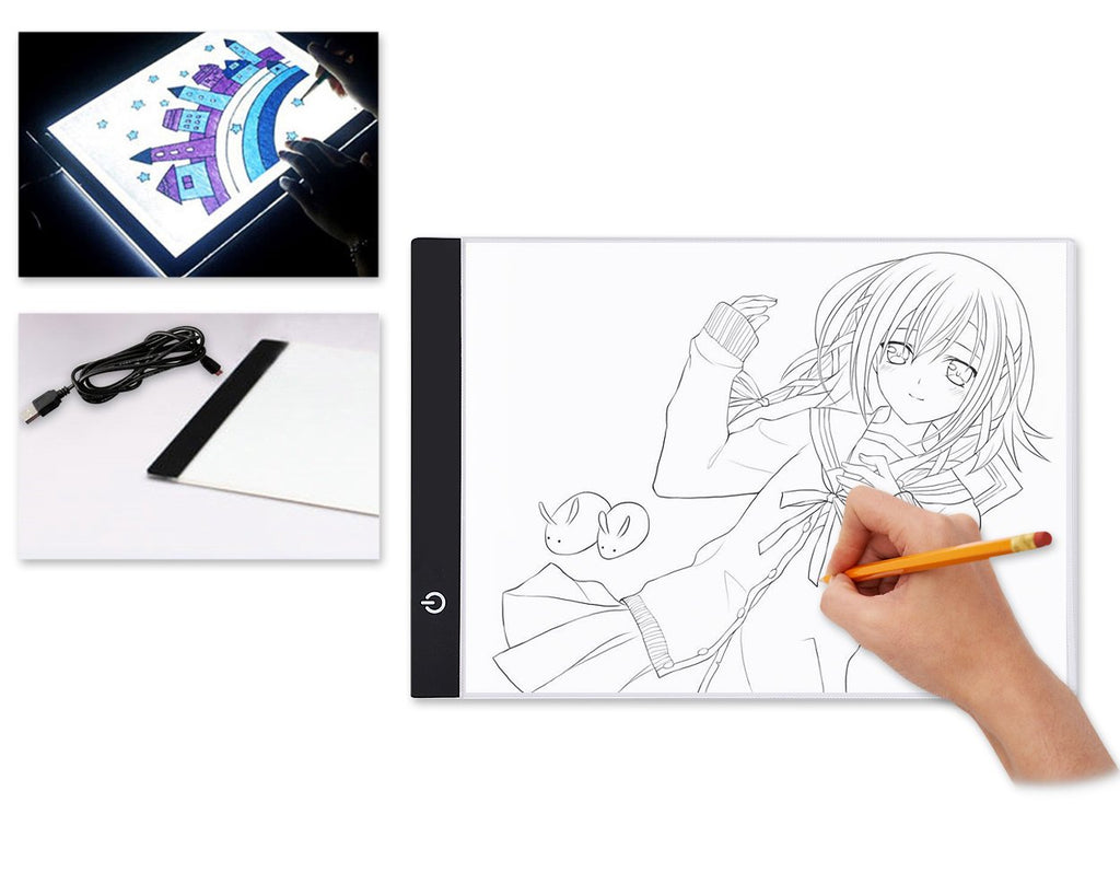 A4 LED Drawing Light Box for Sketching with USB Cable