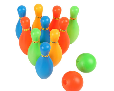 Toy Bowling Game Set with 10 Pieces Pins and 2 Pieces Balls