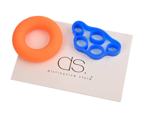 2 Pcs Hand Strengthener Grip Rings and 2 Pcs Finger Stretchers