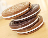5 Pcs Chocolate Cookie Compact Mirror Makeup Vanity Mirror - Brown