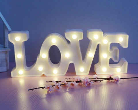 LED Marquee Love Symbol Light - White