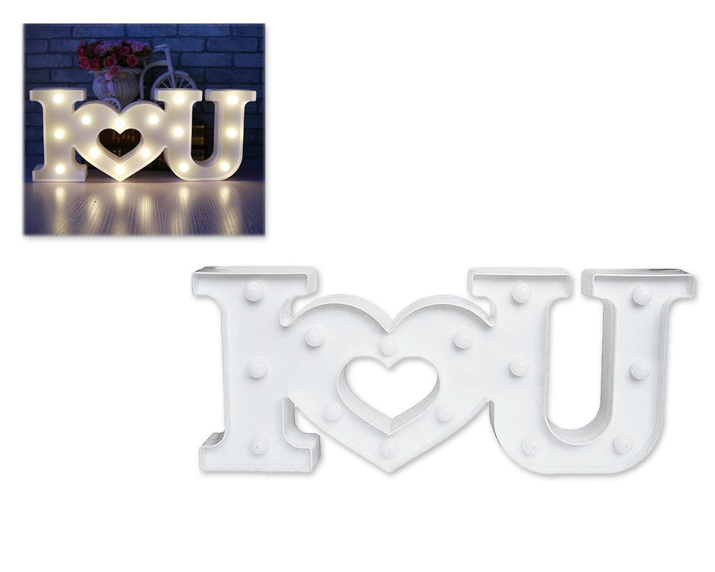 LED Marquee Love Light - White