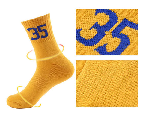 Crew Socks 4 Pairs Sport Socks with Numbers