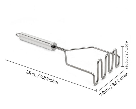Potato Masher 9 Inches Stainless Steel Wire Potato Smasher Tool