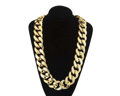 Chunky Gold Necklace 80cm Chain Hip Hop Costume Jewelry