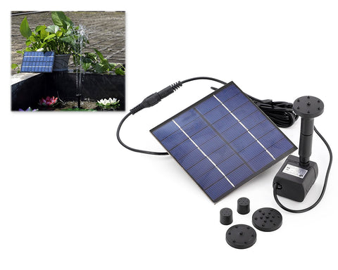 Solar Fountain with Water Pump and 1.2W Solar Panel