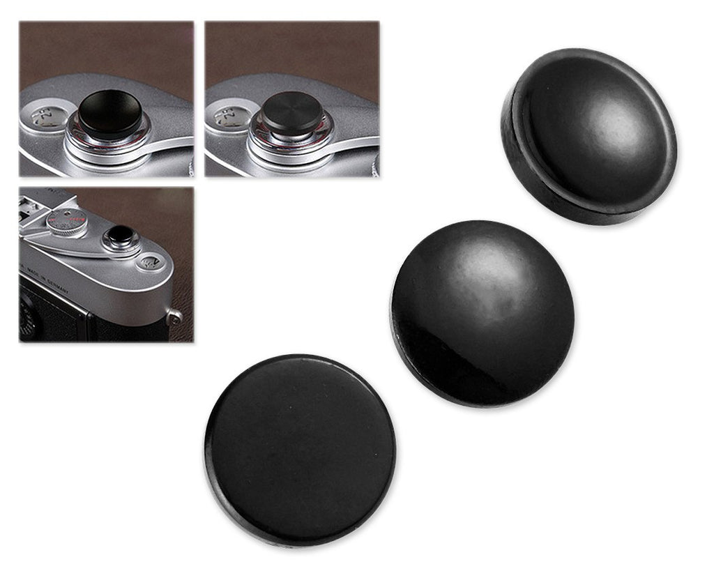 3 Pcs 11mm Camera Shutter Button in Mixed Shape - Black