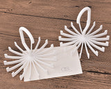 2 Pcs 360 Degree Rotating Tie Rack - White