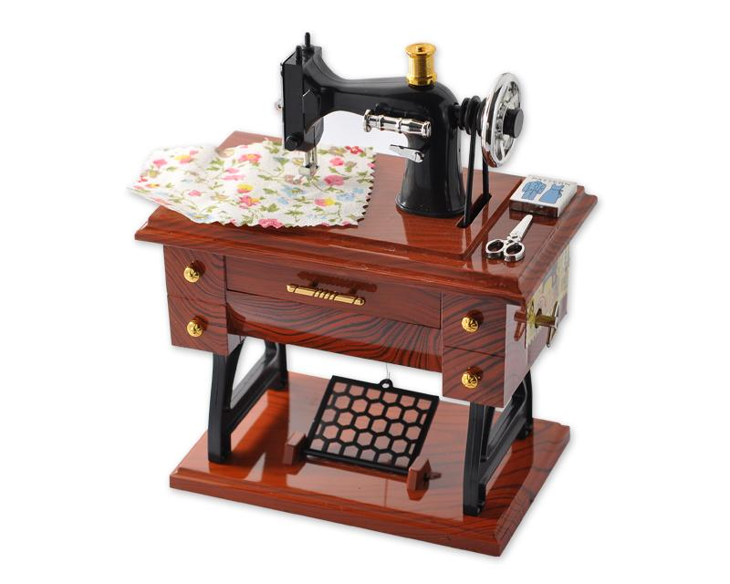 Classic Sewing Machine Mechanical Music Box