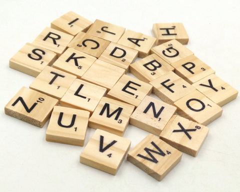 Wooden Alphabet Letters 200 Pieces Scrabble Tiles Replacement