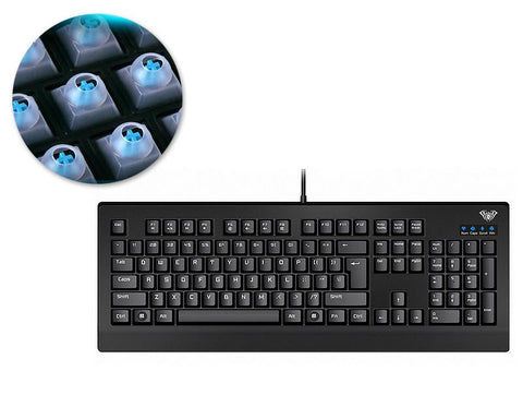 USB Wired Gaming Mechanical Keyboard - Black