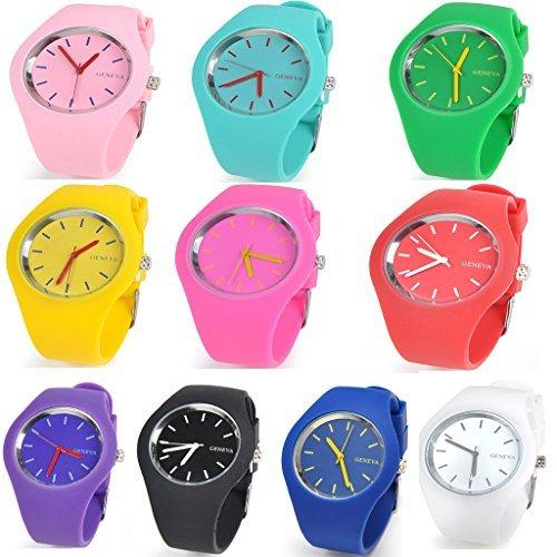 Wholesale Lots of 10pcs Unisex Ultra-thin Silicone Jelly Quartz Watch
