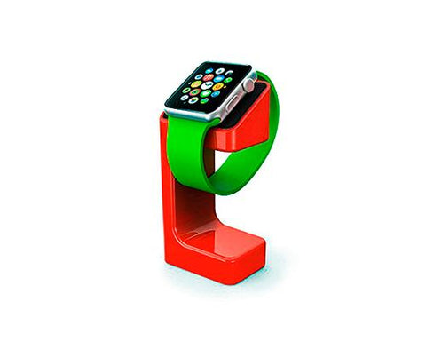 Plastic Watch Charging Display Stand for 38mm/ 42mm Apple Watch - Red