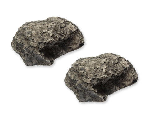 Fake Rock 2 Pieces Realistic Spare Key Holder