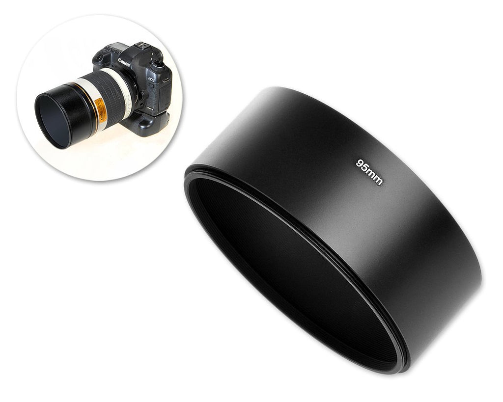 39mm x 95mm Screw In Metal Lens Hood for Lens with 95mm Filter Thread