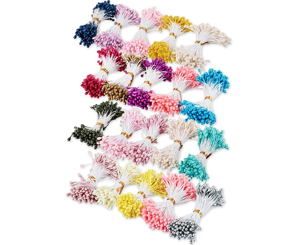 Flower Stamens 1800 Pieces 3 Millimeter Pearl Stamens