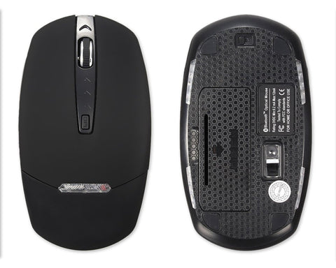 Wireless Bluetooth 3.0 Optical Mouse with LED Light - Black