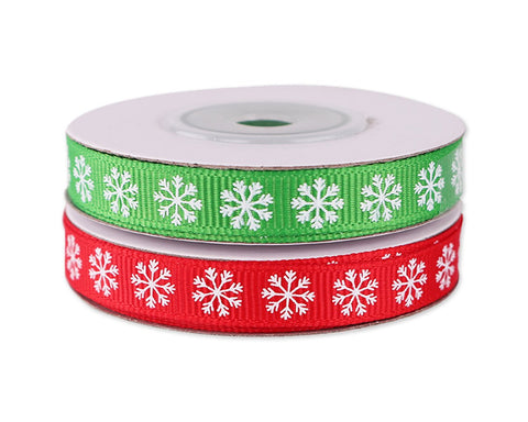 Christmas Ribbon 6 Pieces 0.4 Inch x 20 Yards Xmas Ribbon