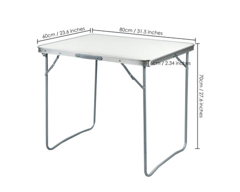 Folding Table Portable Folding Camping Table with Carrying Handle