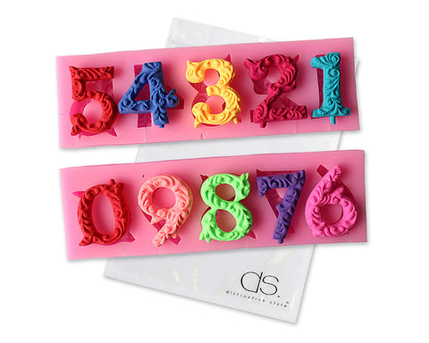 0~9 Numbers 3D Silicone Baking Mold for Cake Decorating