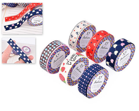 6 Pcs 1m Retro Pattern Paper Washi Masking Tape