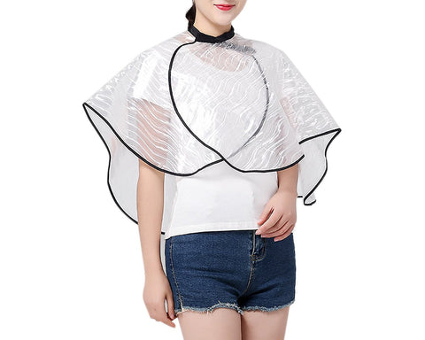 Short Barber Cape Waterproof Make-up Cape for Hair Salon