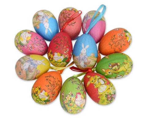Easter Eggs 12 Pieces Easter Decorations 2.7 Inches Foam Fake Eggs
