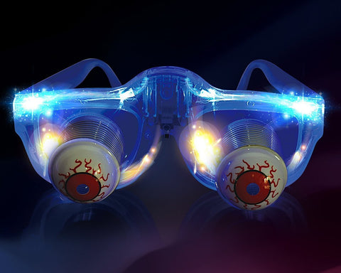 Novelty LED Glasses Pop out Eyeball Glasses for Halloween