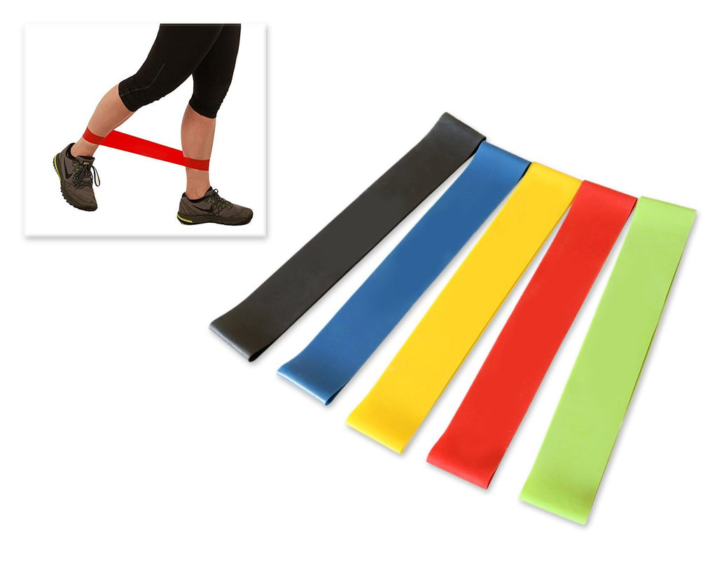 5 Pieces 60cm 5 Different Thickness Fitness Resistance Bands Set
