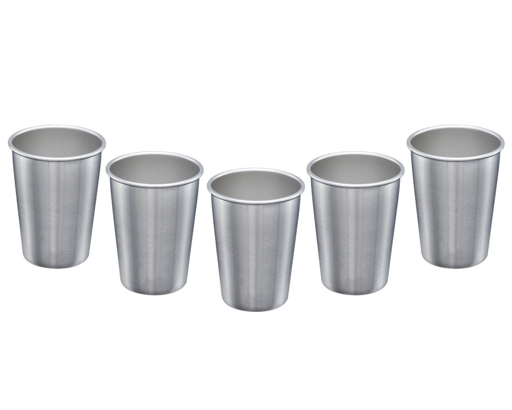 Stainless Steel Cup 5 Pieces 17 Ounce Stainless Steel Pint Cup Tumblers