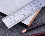 12 Inch and 6 Inch Stainless Steel Rulers