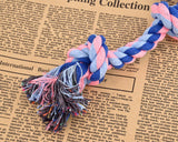 4 Pieces Durable Knotted Braided Cotton Rope Dog Chew Toys Set