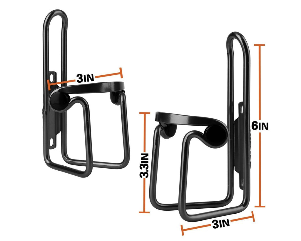 Bike Water Bottle Cages Set of 2 (One For Handlebar)
