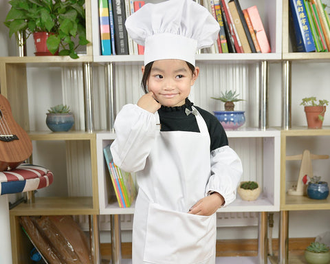 Chef Hat and Apron Set for Children Cooking