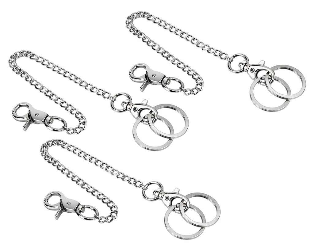 Wallet Chains 3 Pieces 8.3 Inch Pants Chains with Lobster Clasps