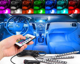 LED Car Interior Atmosphere Lights with IR Remote Controller
