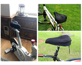 Bike Seat Cushion Comfortable Gel Padded Bicycle Saddle Cover - Black
