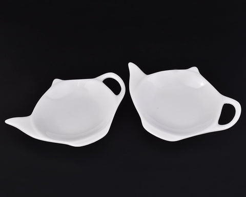 Teapot Shaped Teabag Holder Set of 4