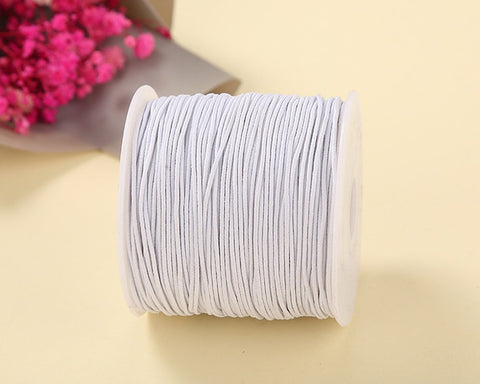 Elastic Cord 1.0 mm Beading Thread Stretch String Craft Cord - White
