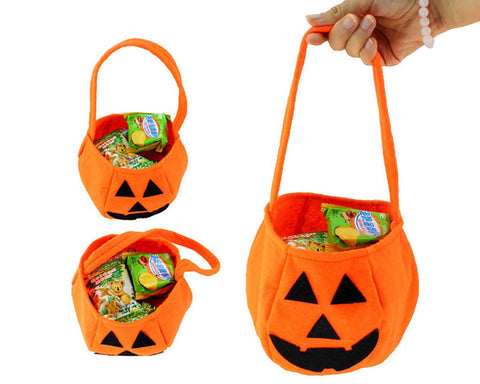 Pumpkin Trick or Treat Bag 6 Pieces Candy Bags for Halloween