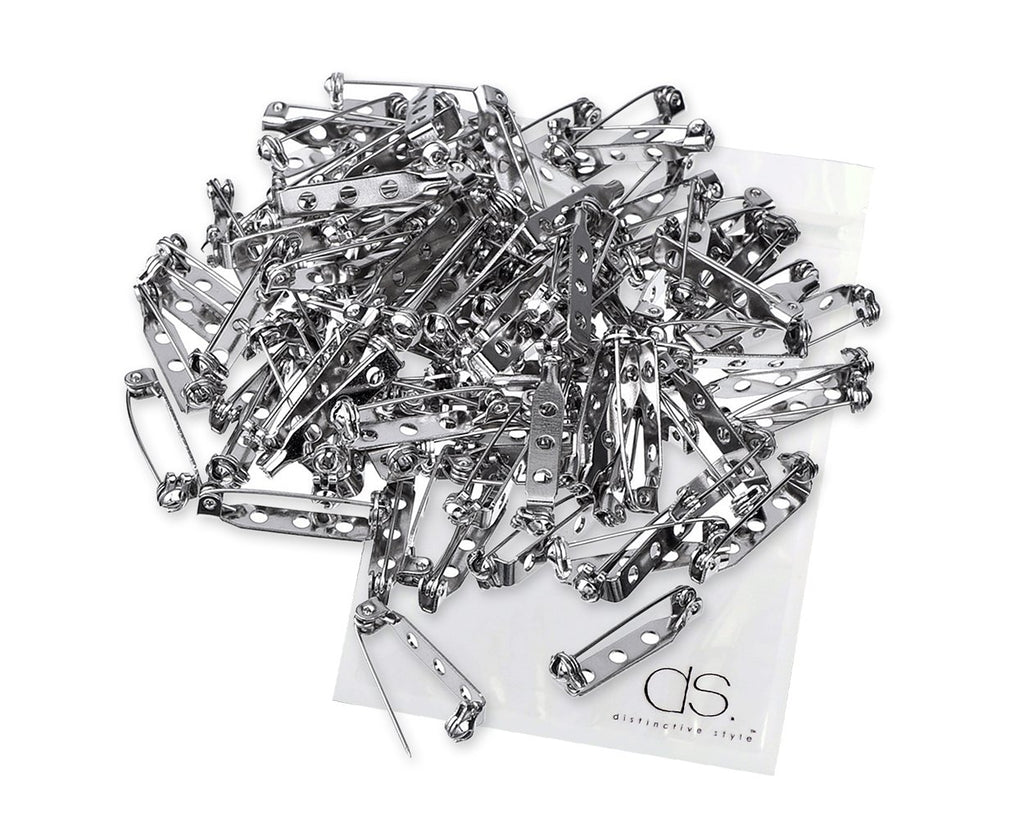 100 Pieces 1 Inch Safety Lock Bar Pin Backs
