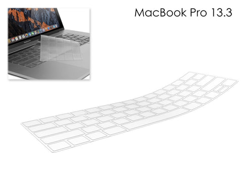 Ultra Thin TPU Keyboard Cover for MacBook Pro with Touch Bar