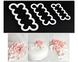 3 Pieces Easiest Sugar Rose Ever Cutter