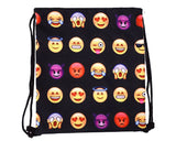 Emoji Drawstring Bag Emoticon Printed Drawstring Backpack