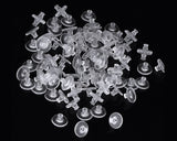 100 Pieces Clear Silicone Earring Backs