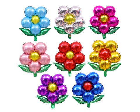 Flower Foil Balloons 8 Pieces 19.69 Inches Reusable Party Balloons