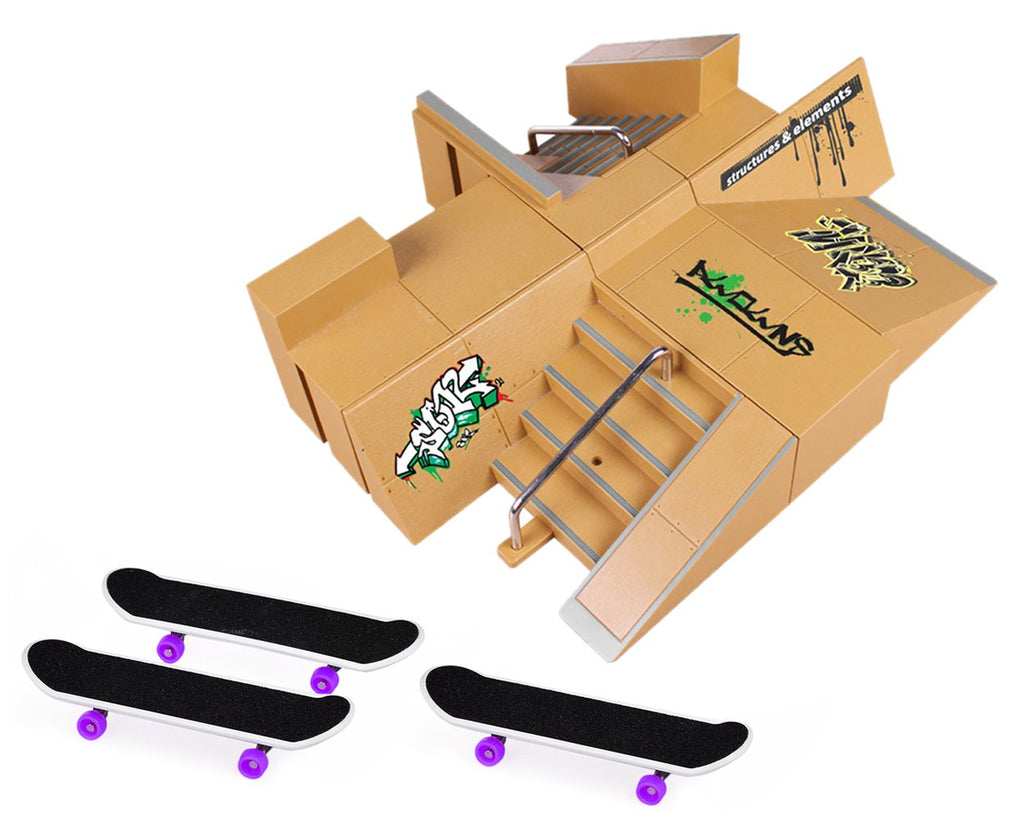 Fingerboard Skatepark Skate Park Kit for Finger Skateboard