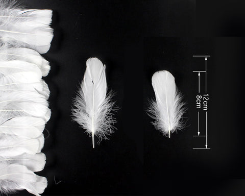 400 Pieces Decorative Feathers for Craft, Party - White
