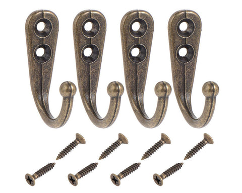 Set of 20 Wall Mounted Coat Hooks with Screws